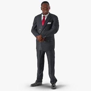 3ds max businessman african american hair