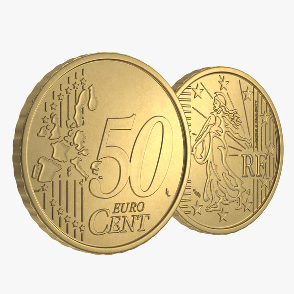 3d 3ds french euro coin 50