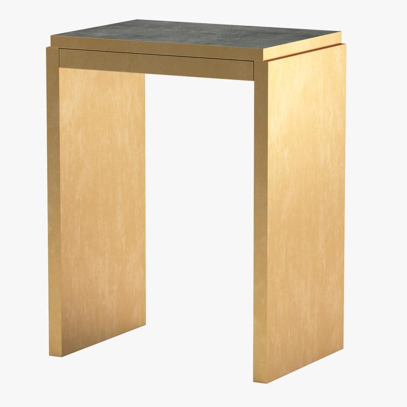 shagreen table 3d model