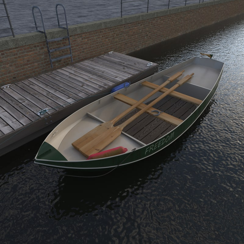 steel boat jetty 3d max