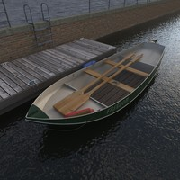 rowing boat with jetty dock