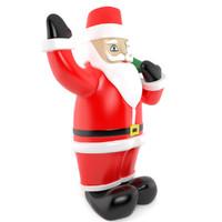 3d inflatable santa