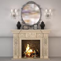 fireplace pompeya 3d model