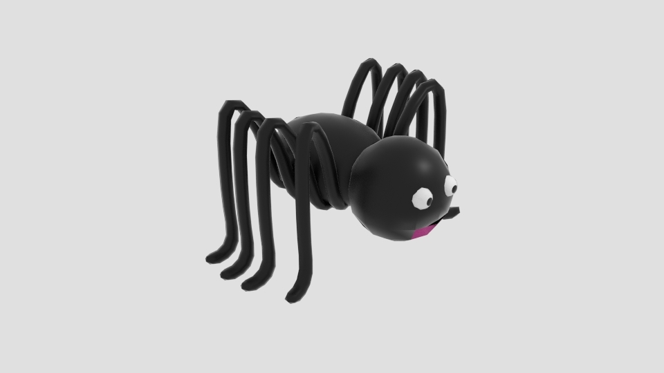 cartoon simple spider 3ds free