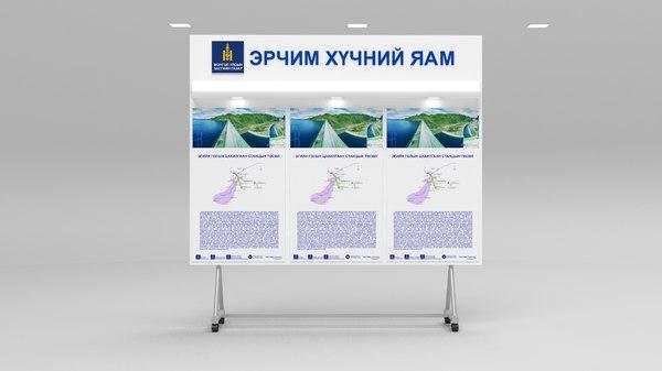 3d model information board