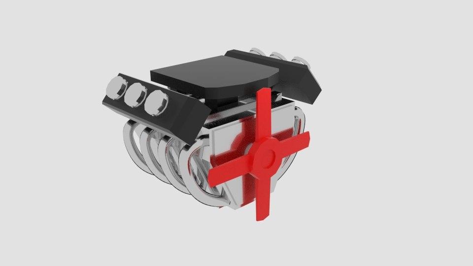 free simplengine simple engine 3d model