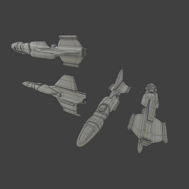3d spaceship model