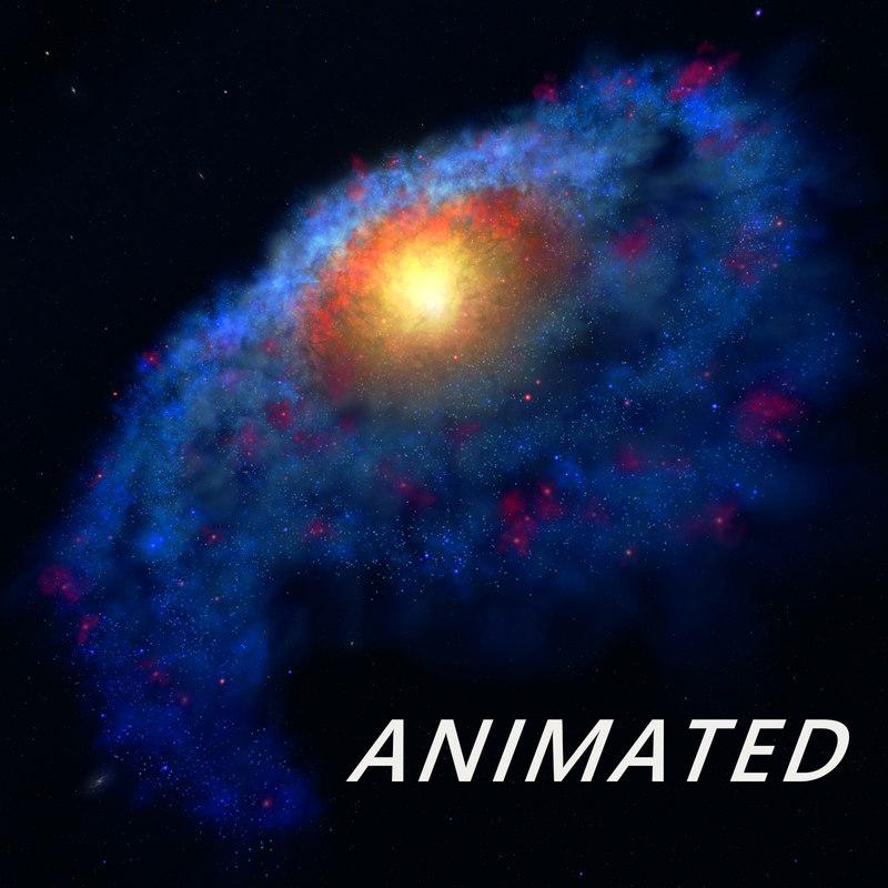 milky way galaxy star 3d max