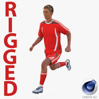 soccer player generic rigged c4d