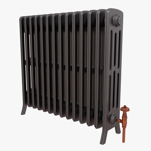 radiator cast iron 3d obj