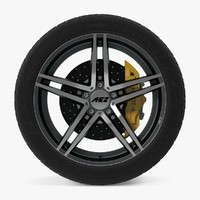 3d portofino dark disk car wheel