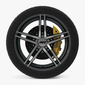 3d portofino dark disk car wheel