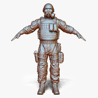 3d zbrush sas soldier set model