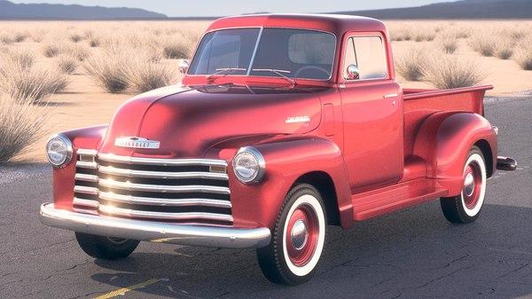 3d model chevrolet 1950 pickup