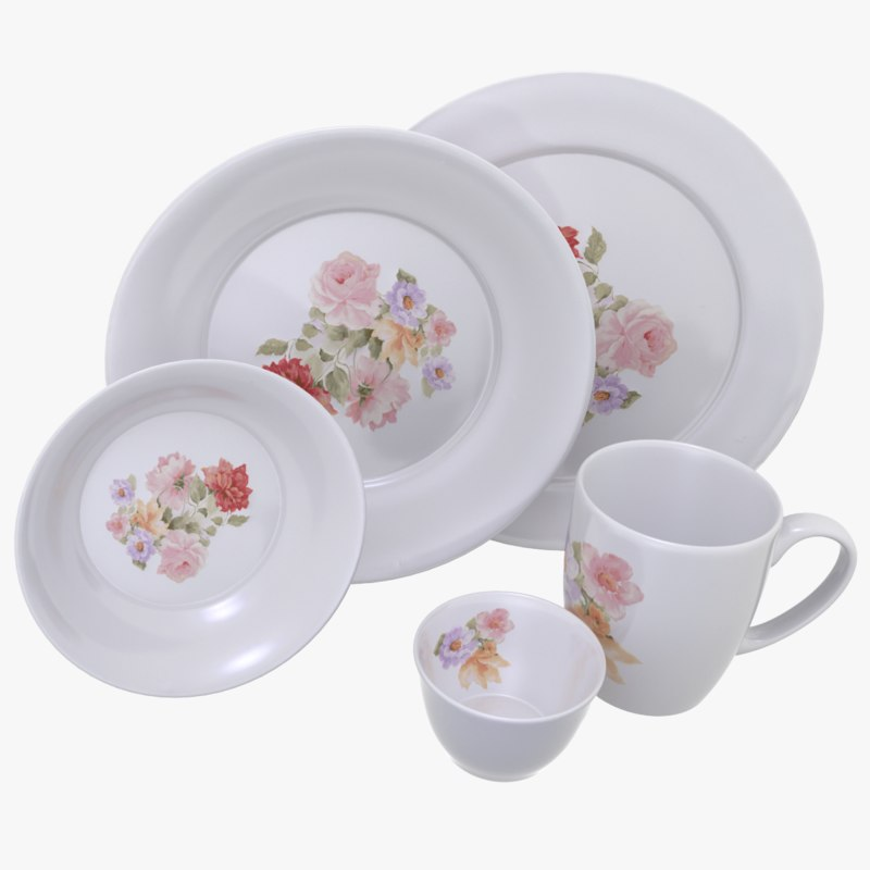 ceramic dish set 3d max