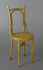 wooden chair yellow x