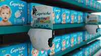 gondol supermarket diaper baby 3d ma