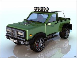 pick-up truck 3d max
