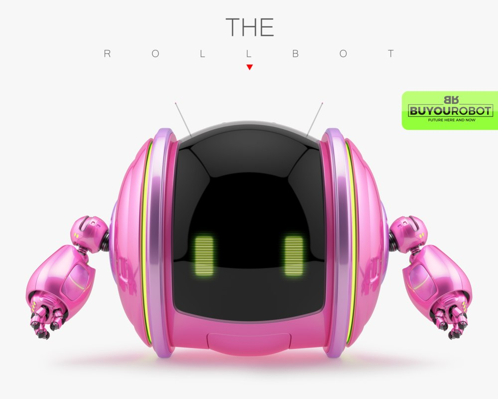 cute rolling bot 3d max