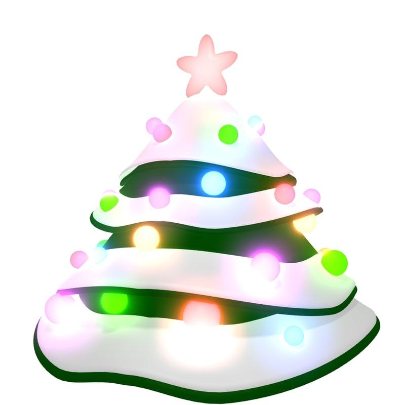 3d new year tree preloader