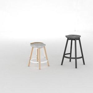 3d model su stool nendo