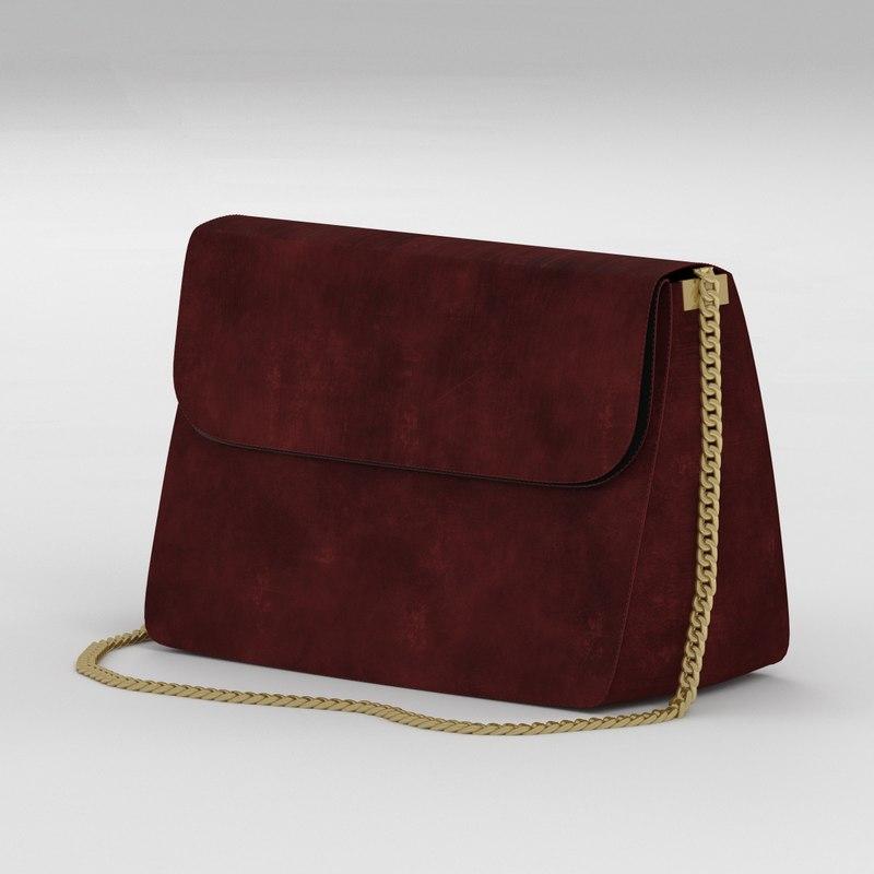 3d model celine gourmette chain bag