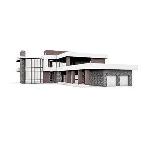 3d model residential villa