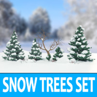 Snow Trees Set