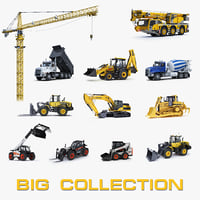 big construction equipment 3d model