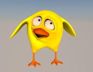 little bird 3d model