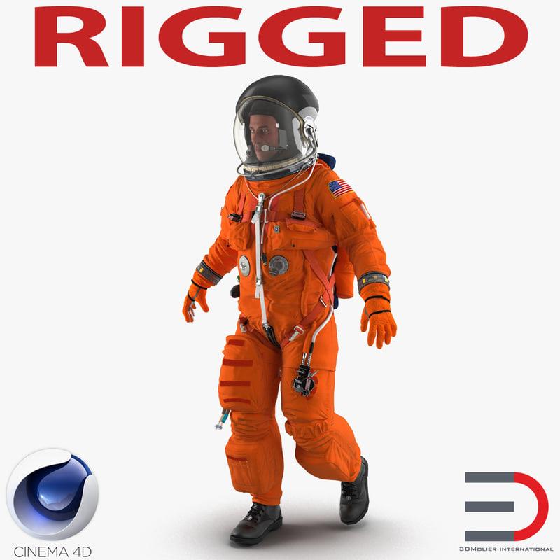 astronaut wearing advanced crew c4d
