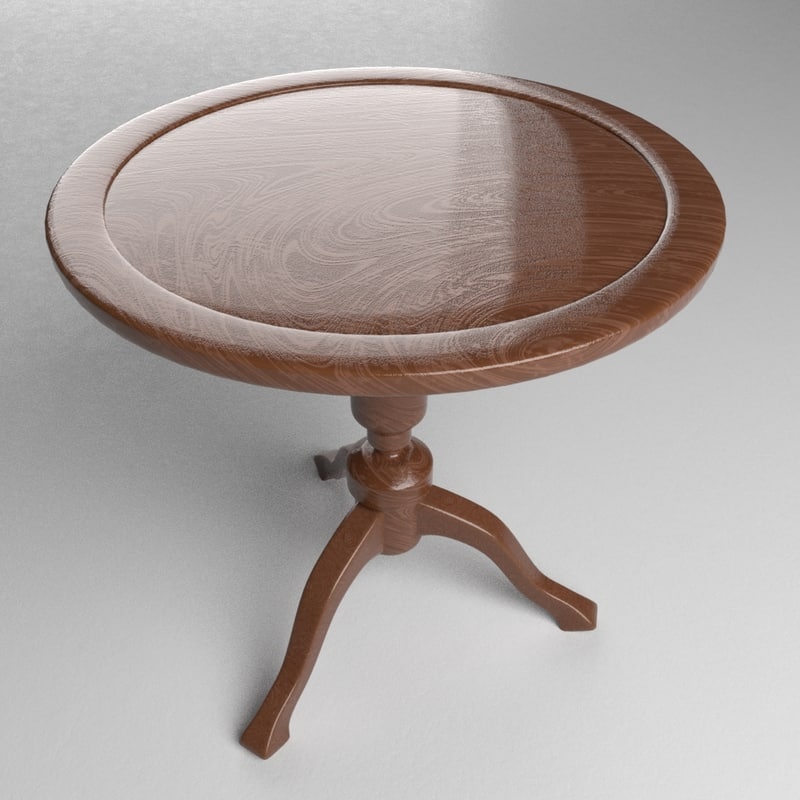 antique table 3d blend