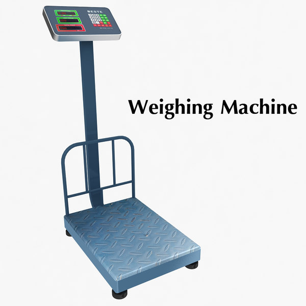 weighing machine 3d model