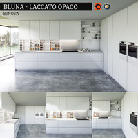 3d model kitchen bluna laccato opaco
