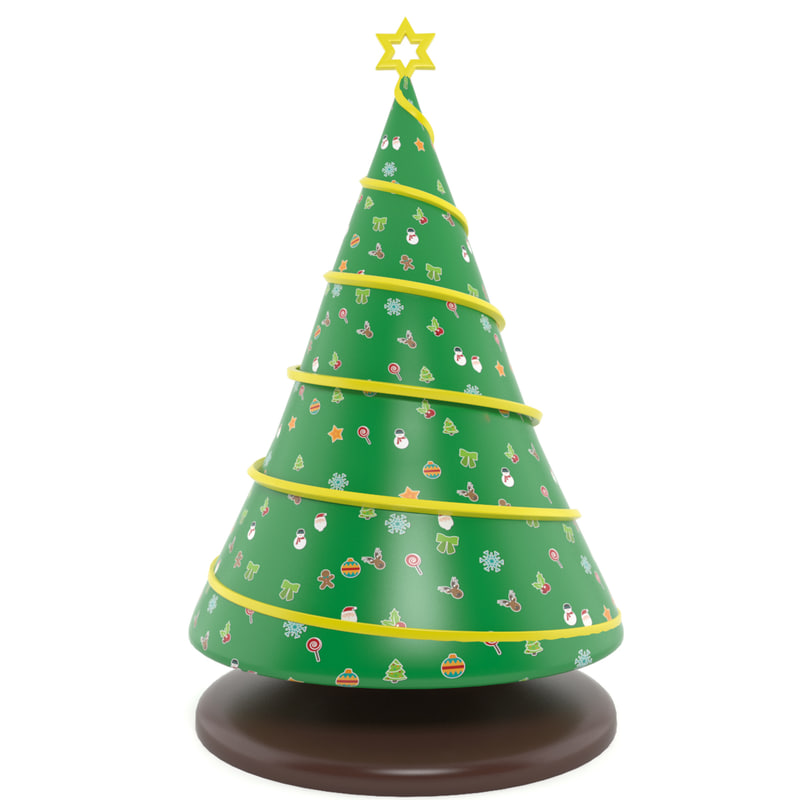 inflatable tree 3d max
