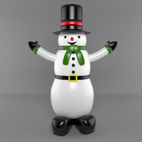 inflatable snowmen 3d model