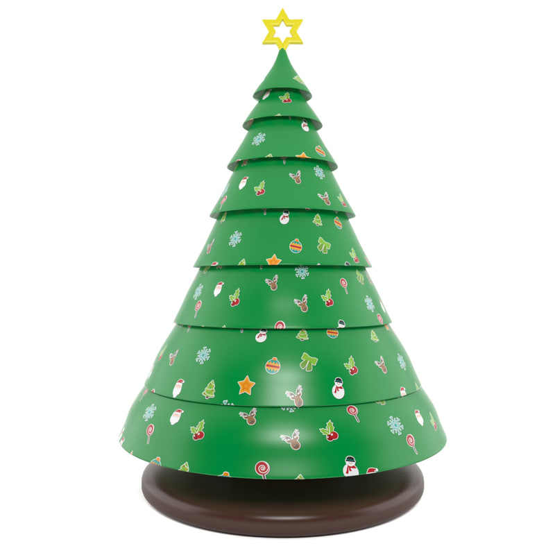 3d inflatable tree