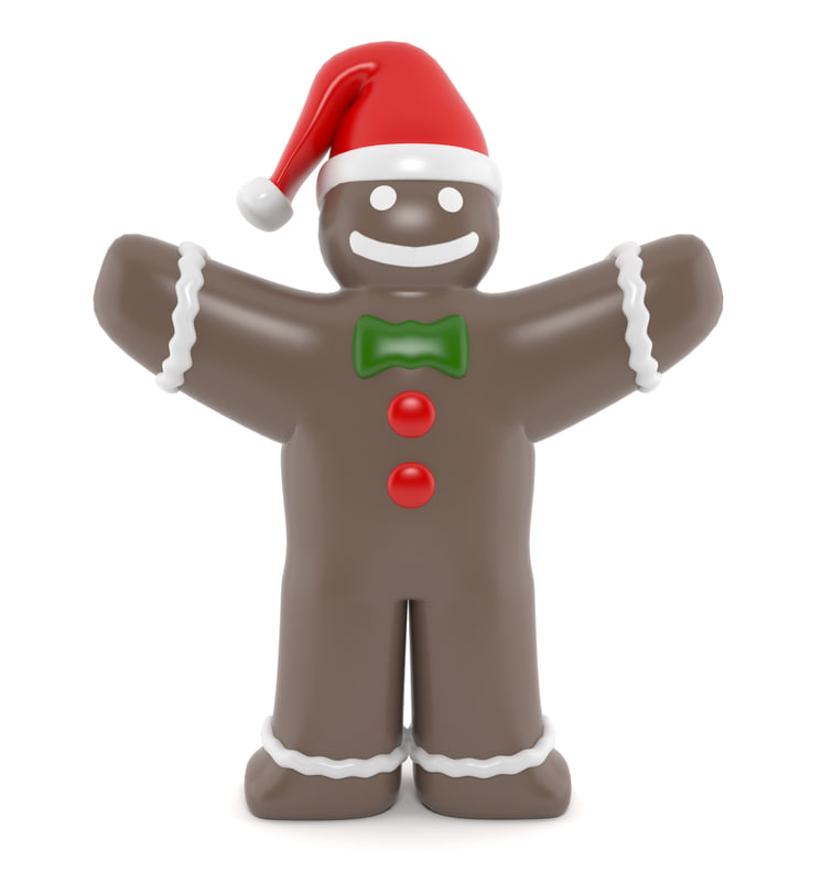 3d inflatable gingerbread model
