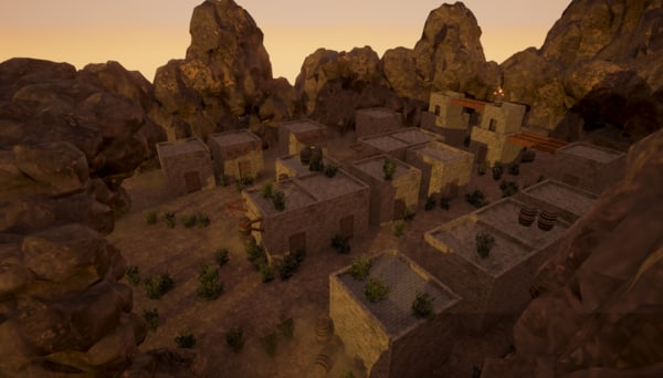 3d model of hidden village