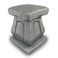 small pbr pillar 3d model