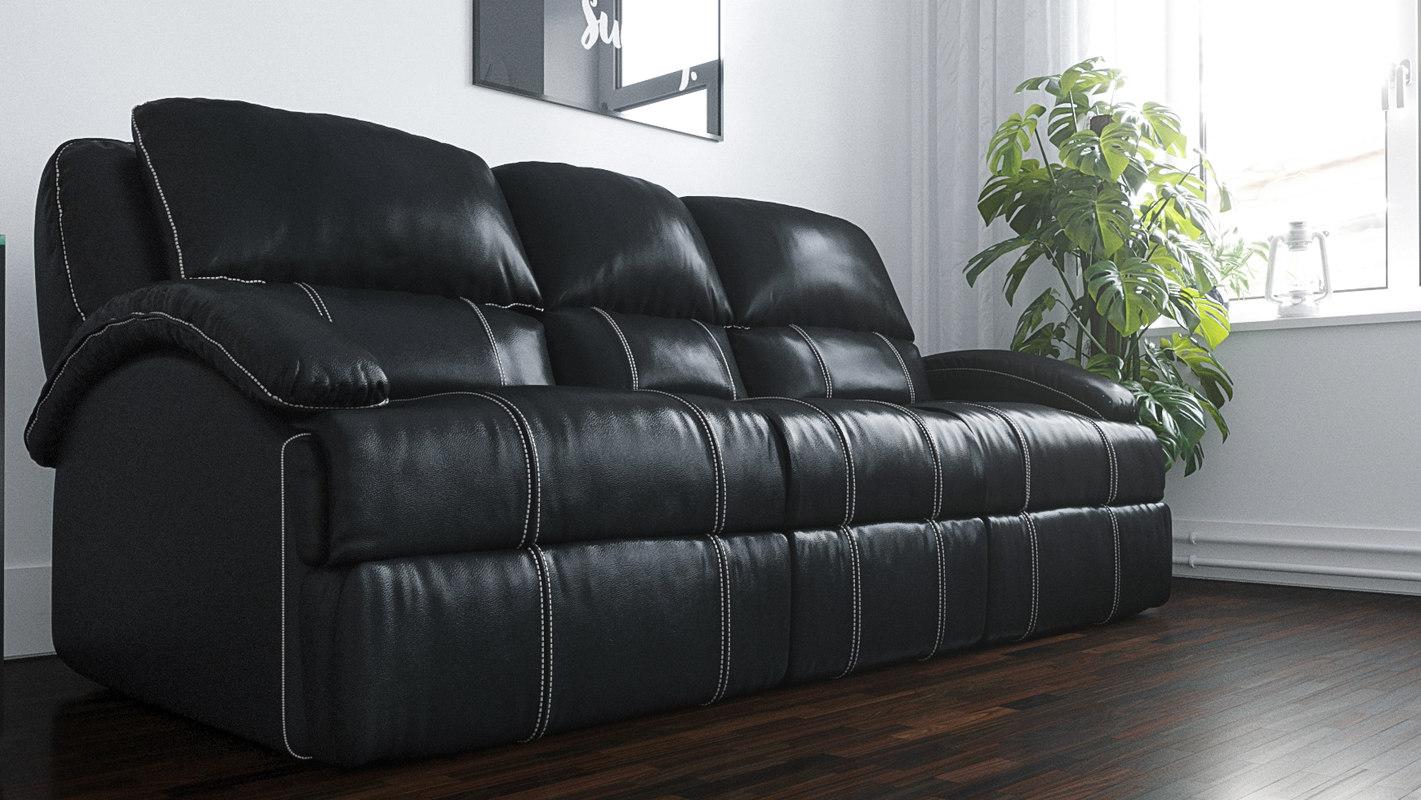 nolan ii dual reclining 3d model