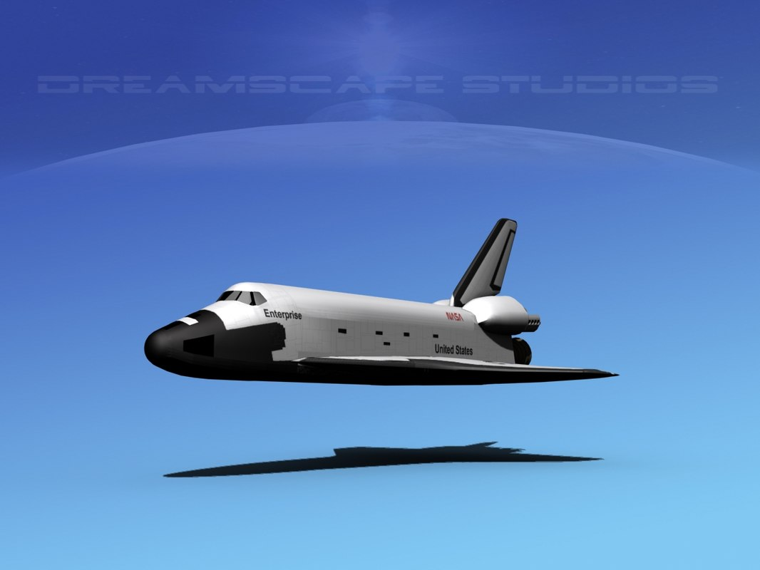 space shuttle 3d dwg