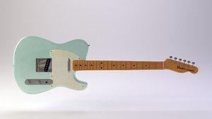 blue guitar 3d 3ds