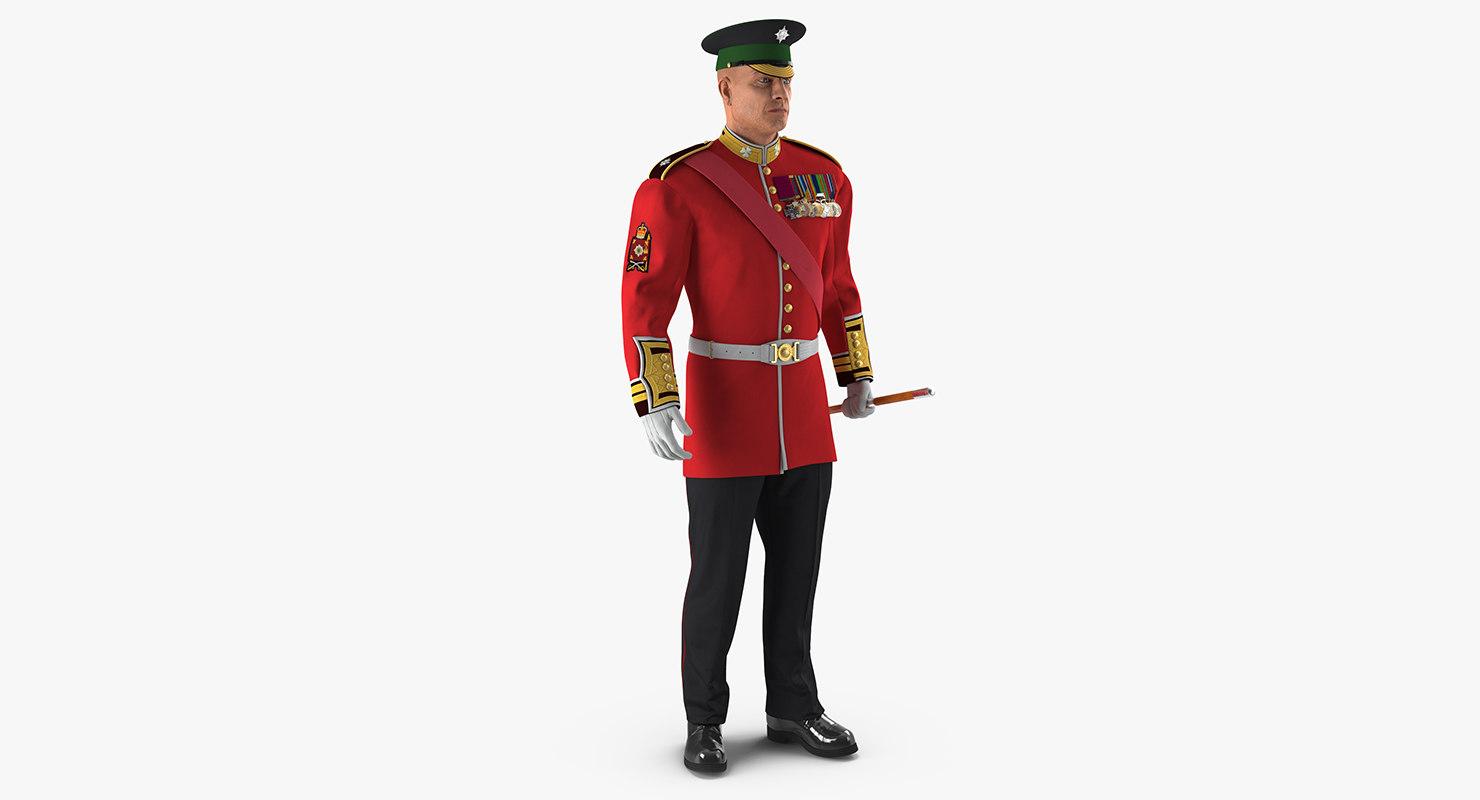 max irish guard sergeant standing