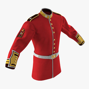 irish guard sergeant tunic 3d max