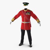3d 3ds irish guard sergeant uniform