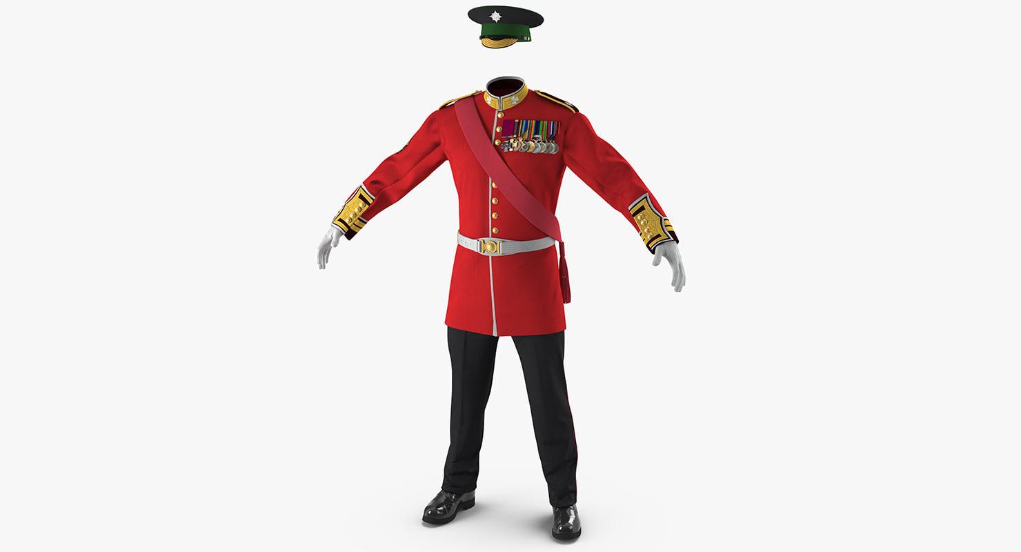 3d 3ds irish guard sergeant uniform