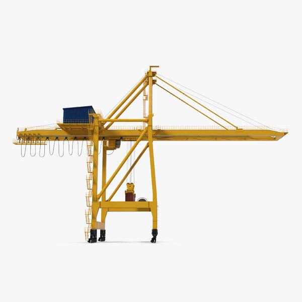 3d model quayside container crane