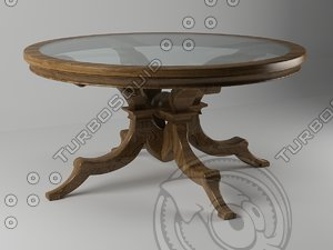 3d table wood