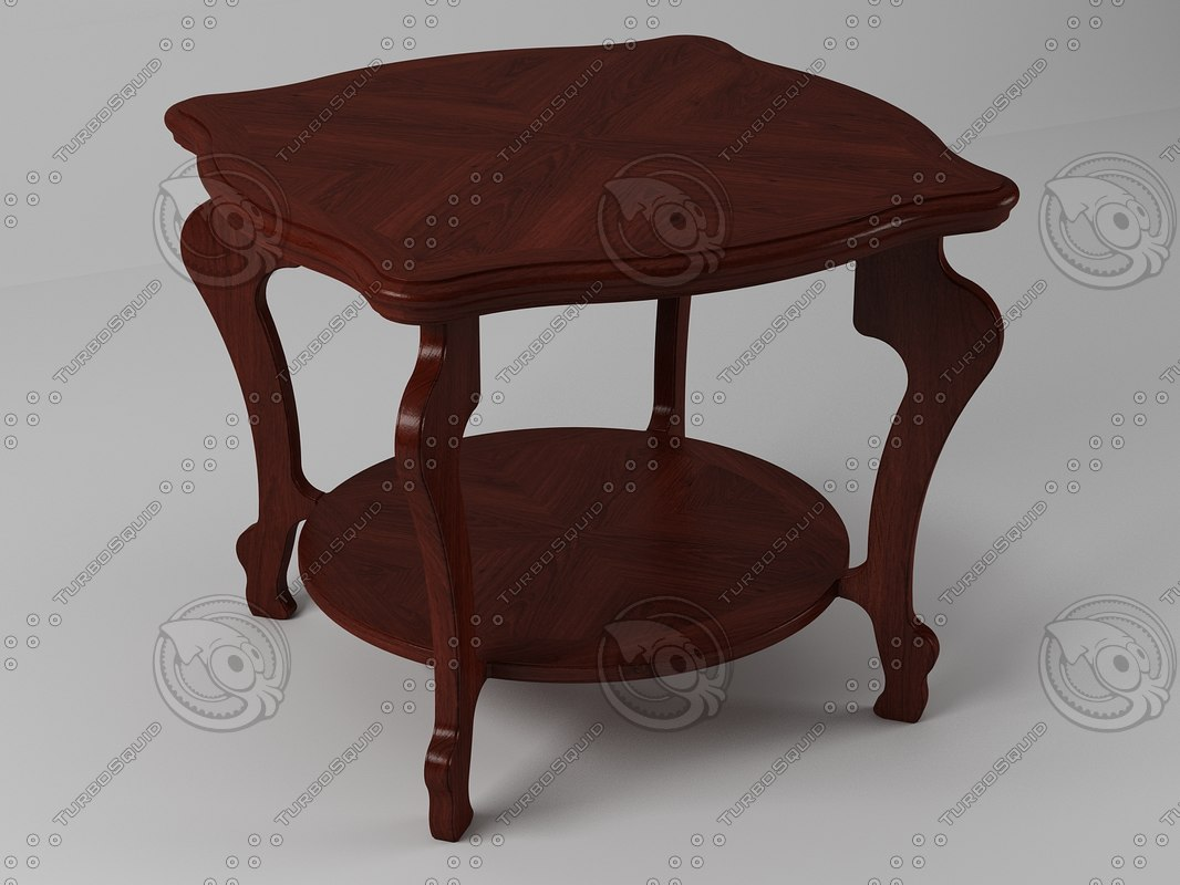 table coffee wood 3ds
